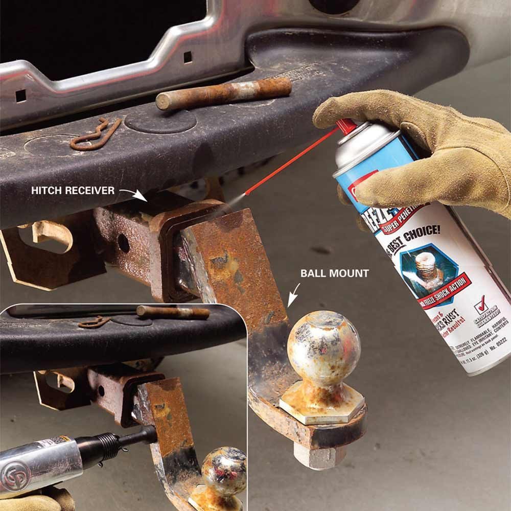Removing a stuck ball mount | Construction Pro Tips