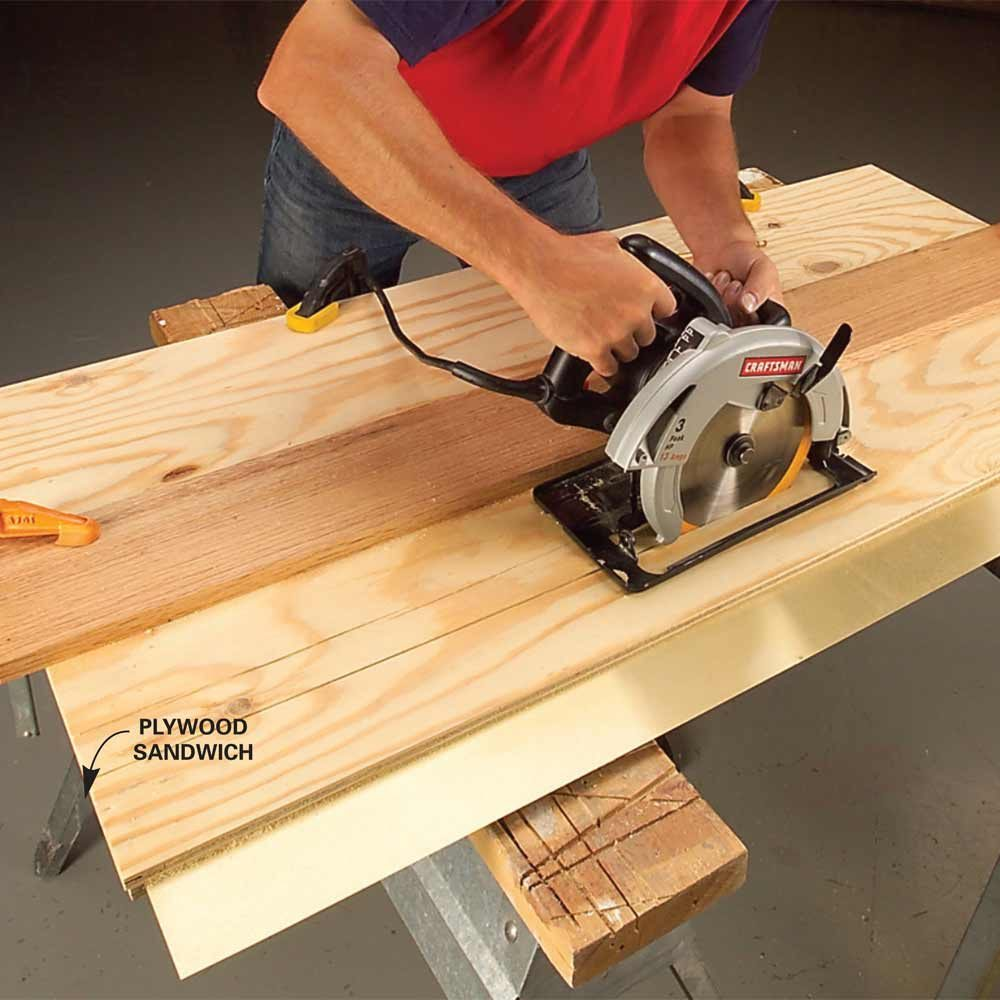 Cutting metal clamped beneath plywood | Construction Pro Tips