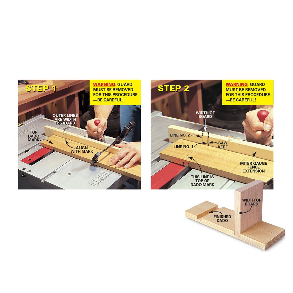 Dado Guide Using Standard Blade