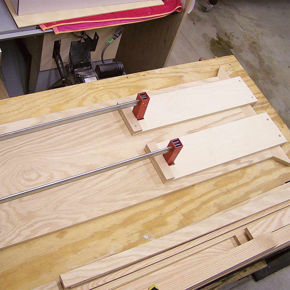 A pair of homemade clamp extensions | Construction Pro Tips