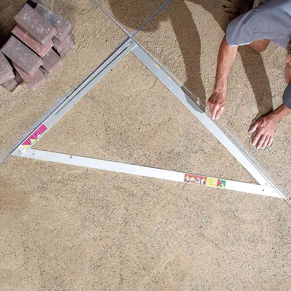 A triangle made for creating simple layouts | Construction Pro Tips