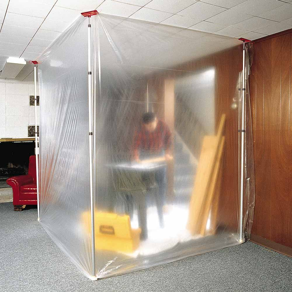 An isolation chamber made from poly and clamps | Construction Pro Tips