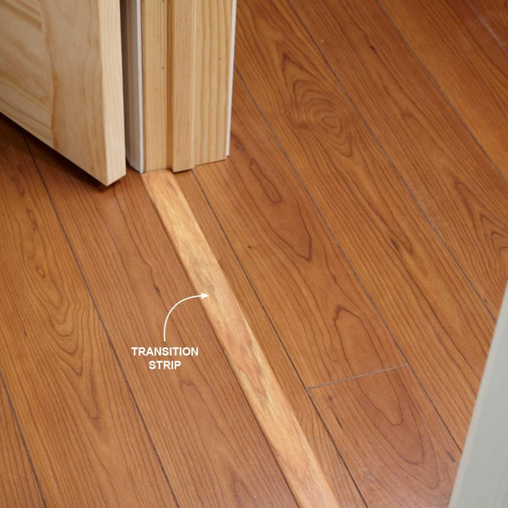 Transition Strips | Construction Pro Tips & 12 Tips for Installing Laminate Flooring - Construction Pro Tips