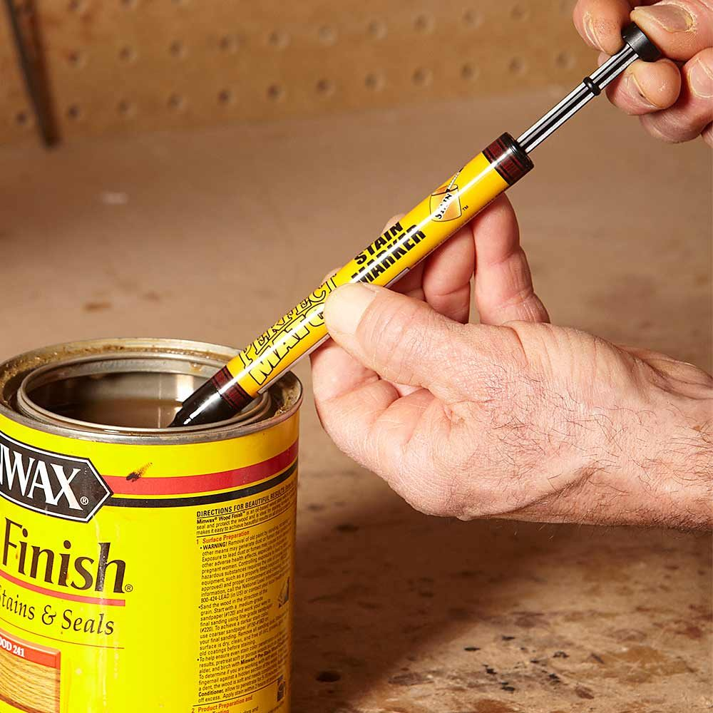 Setting up a perfect match stain marker | Construction Pro Tips