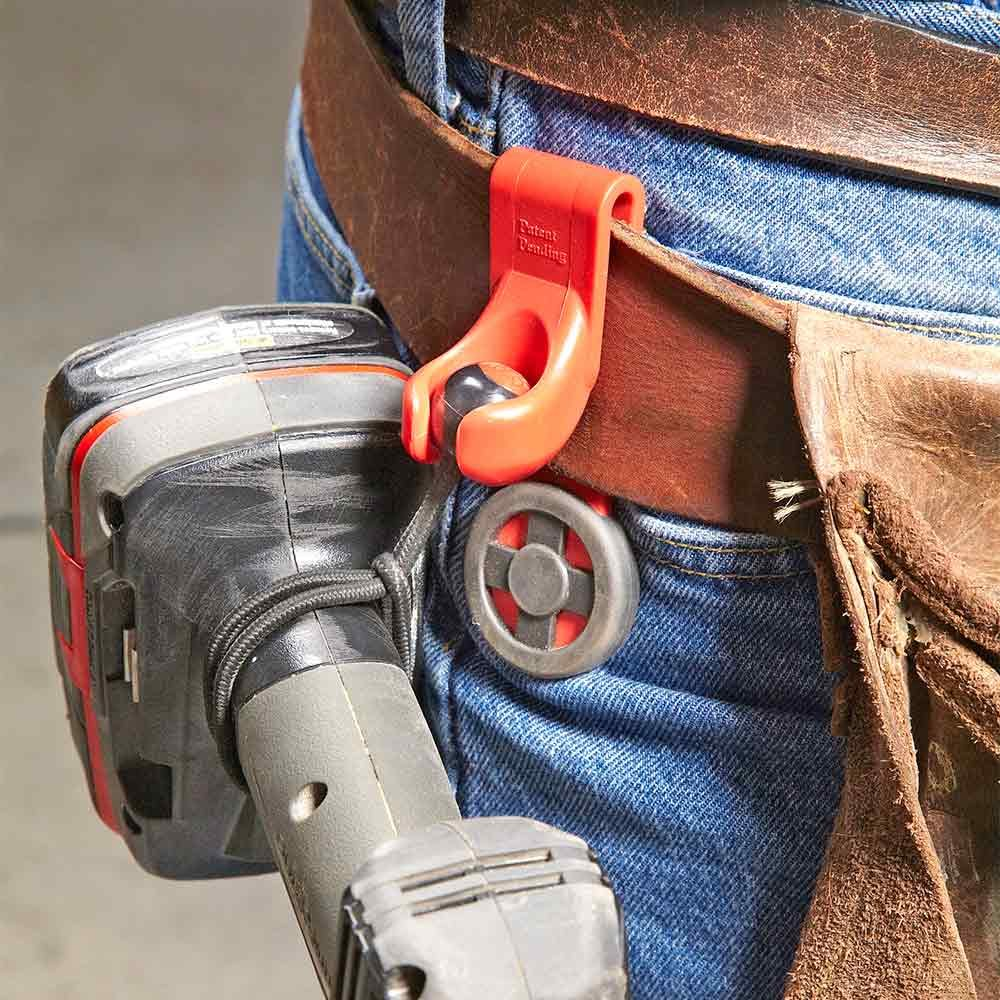 Belt attachment for hanging tools at the ready | Construction Pro Tips