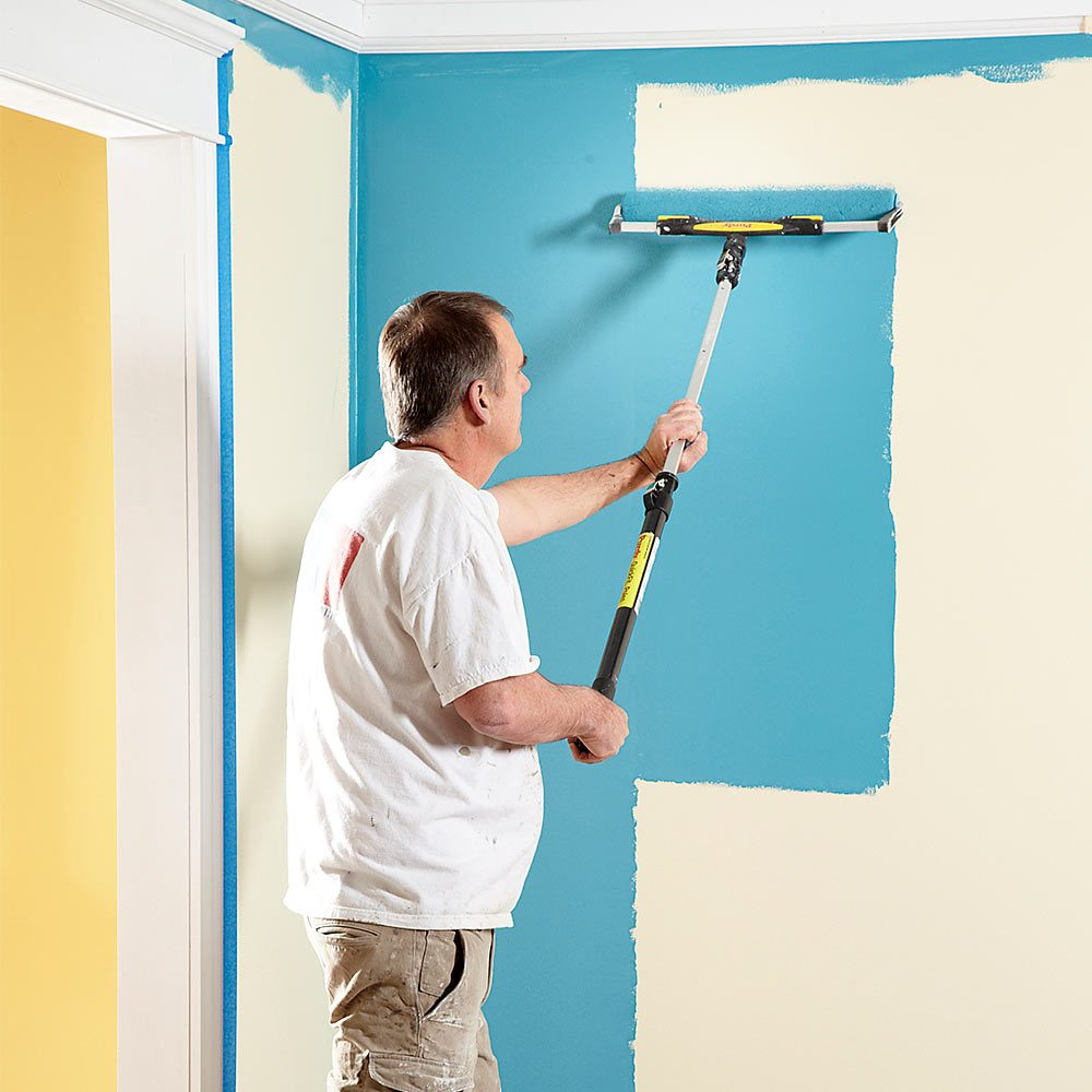 Painting with an extra-wide roller | Construction Pro Tips