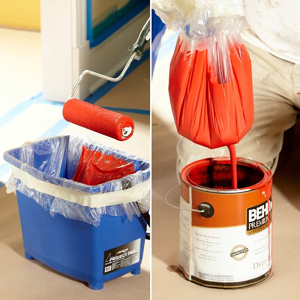 Use a paint pail instead of a paint tray | Construction Pro Tips