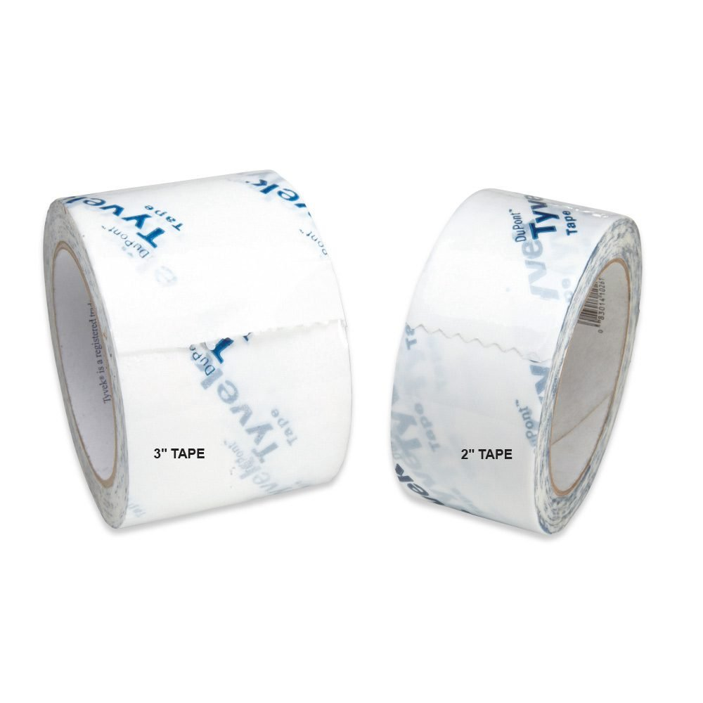 Three inch Tyvek tape for sealing gaps | Construction Pro Tips