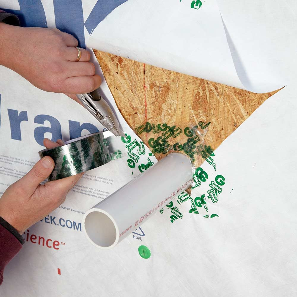 Sealing up open spots with tape | Construction Pro Tips