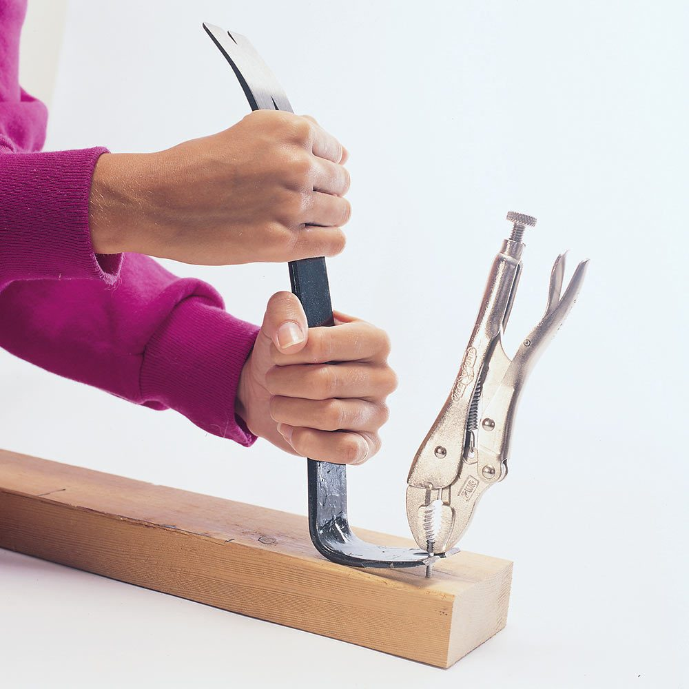 Locking Pliers for Pulling Nails