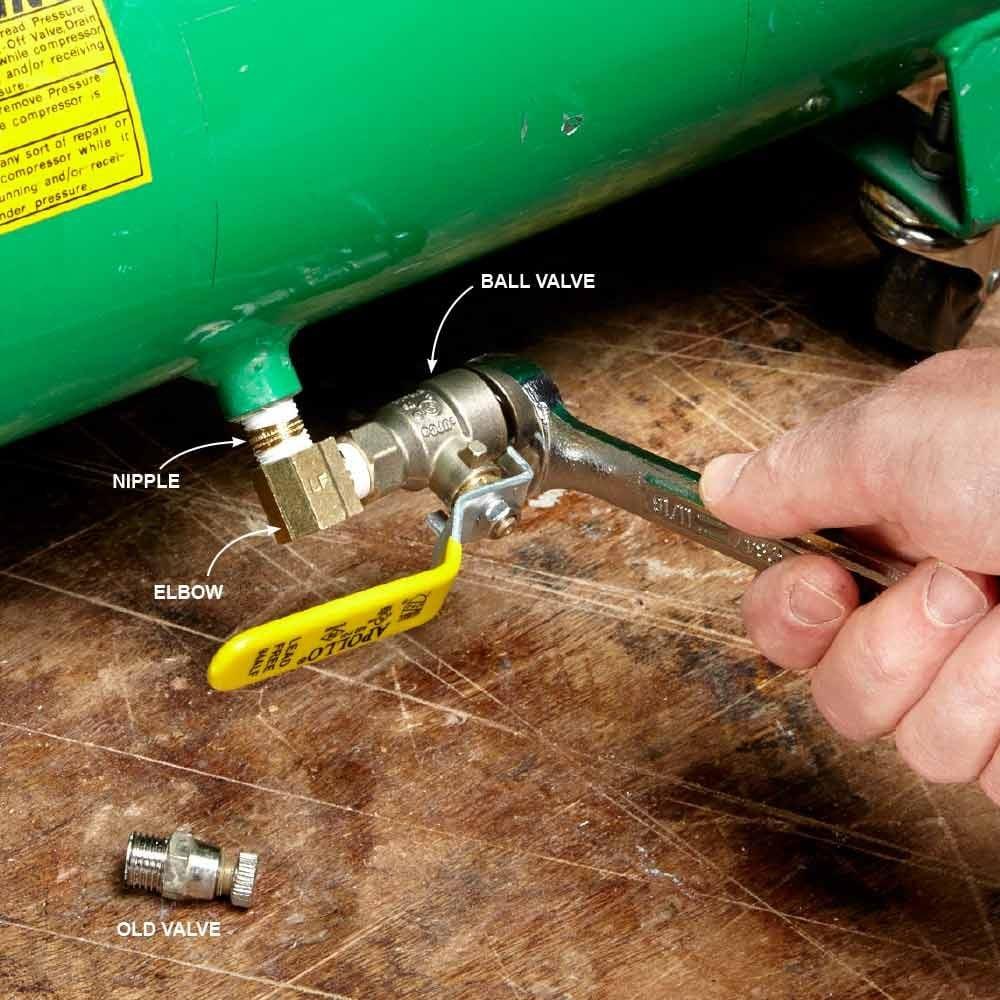 Convenient Compressor Drain