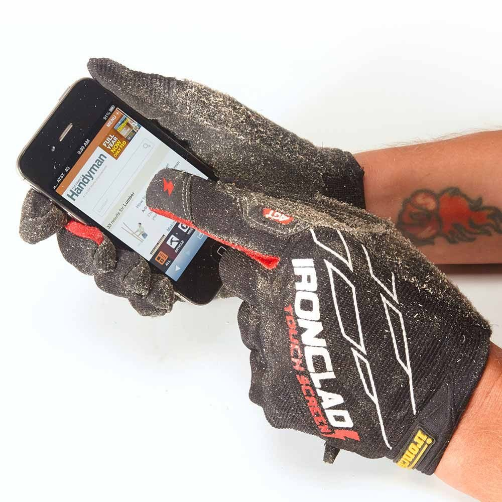 Gloves with fingers that work on touch screens | Construction Pro Tips