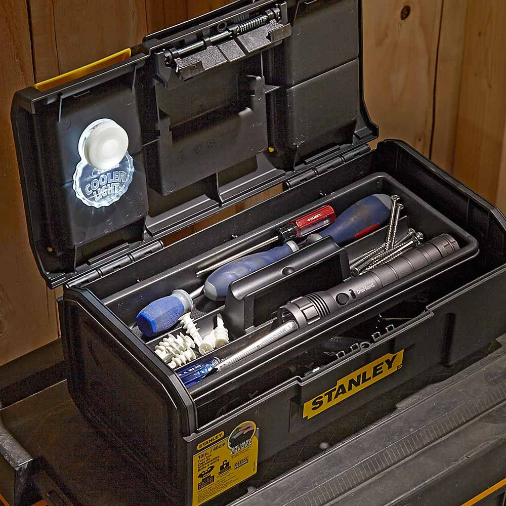 A light built for the inside of a toolbox | Construction Pro Tips