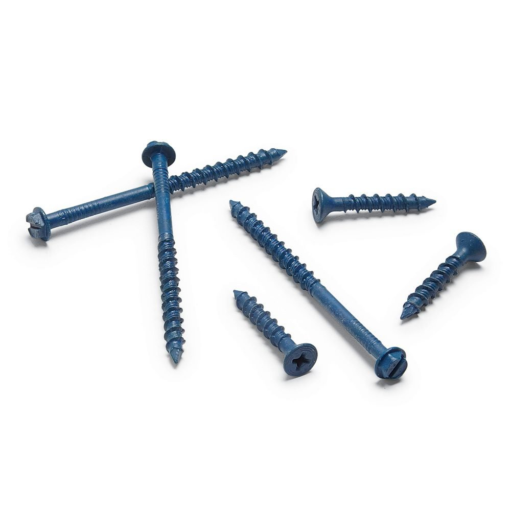 A pile of different sized concrete screws | Construction Pro Tips