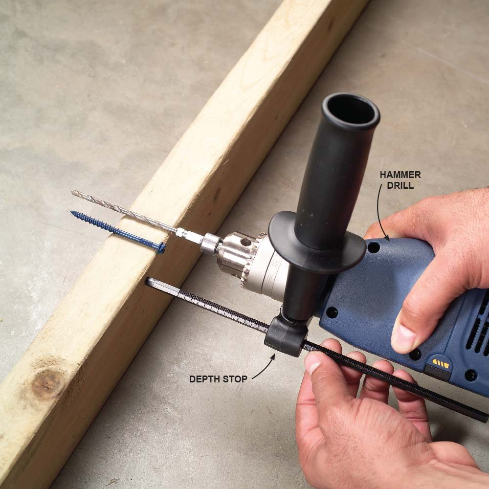 Using a drill depth stop with a hammer head drill | Construction Pro Tips