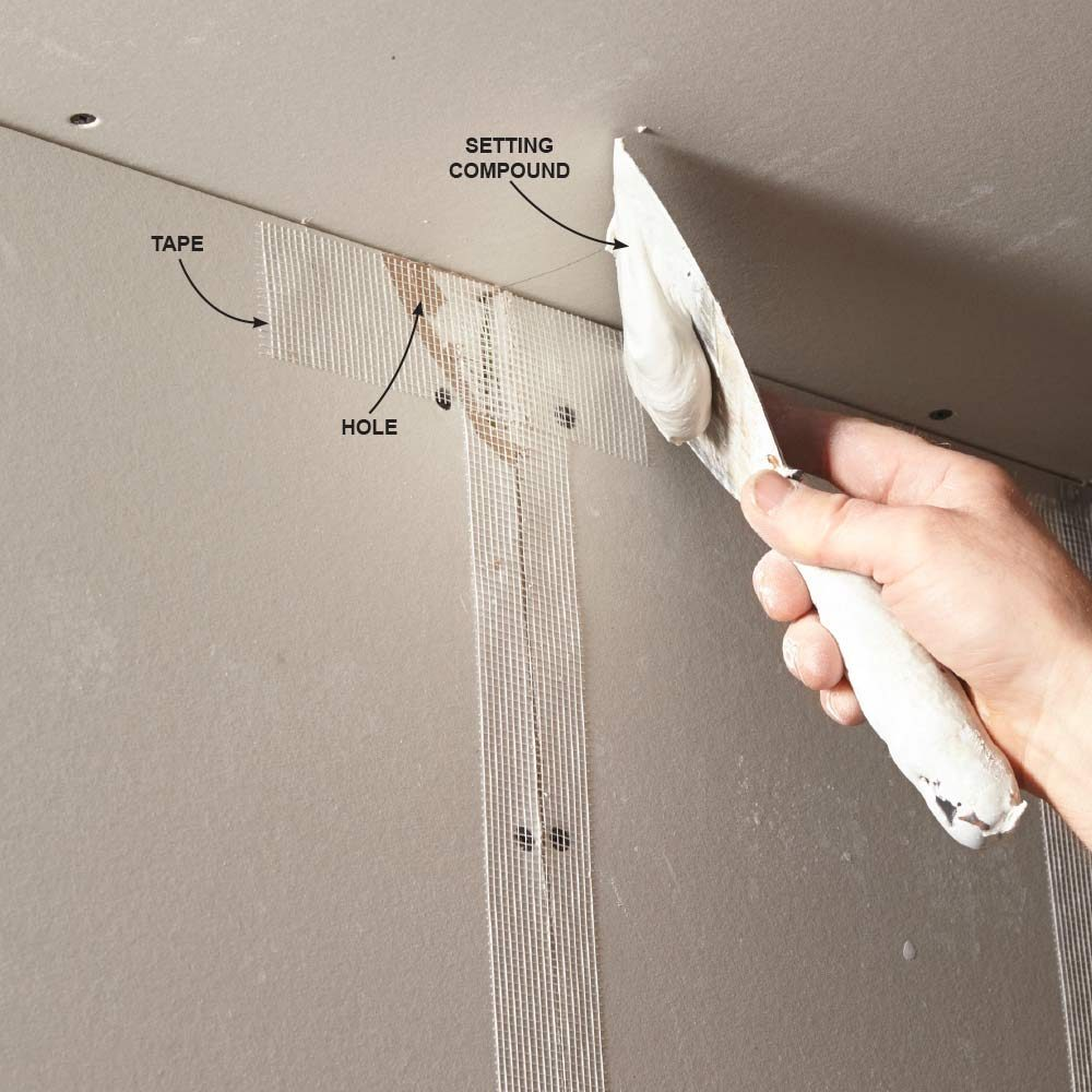 Cover the tape and fill the gaps | Construction Pro Tips
