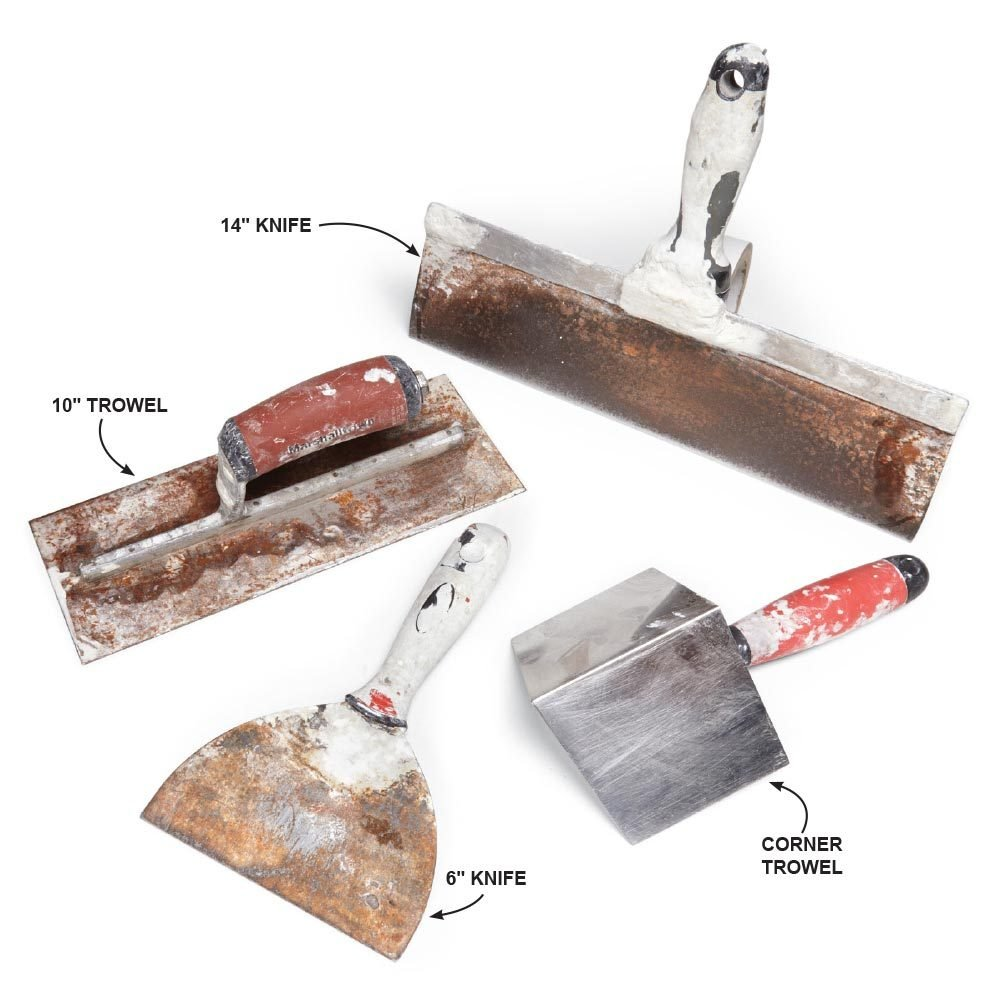 Putty knife, trowel and a corner trowel | Construction Pro Tips