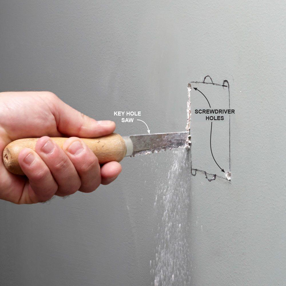Make a Starter Hole with a Screwdriver