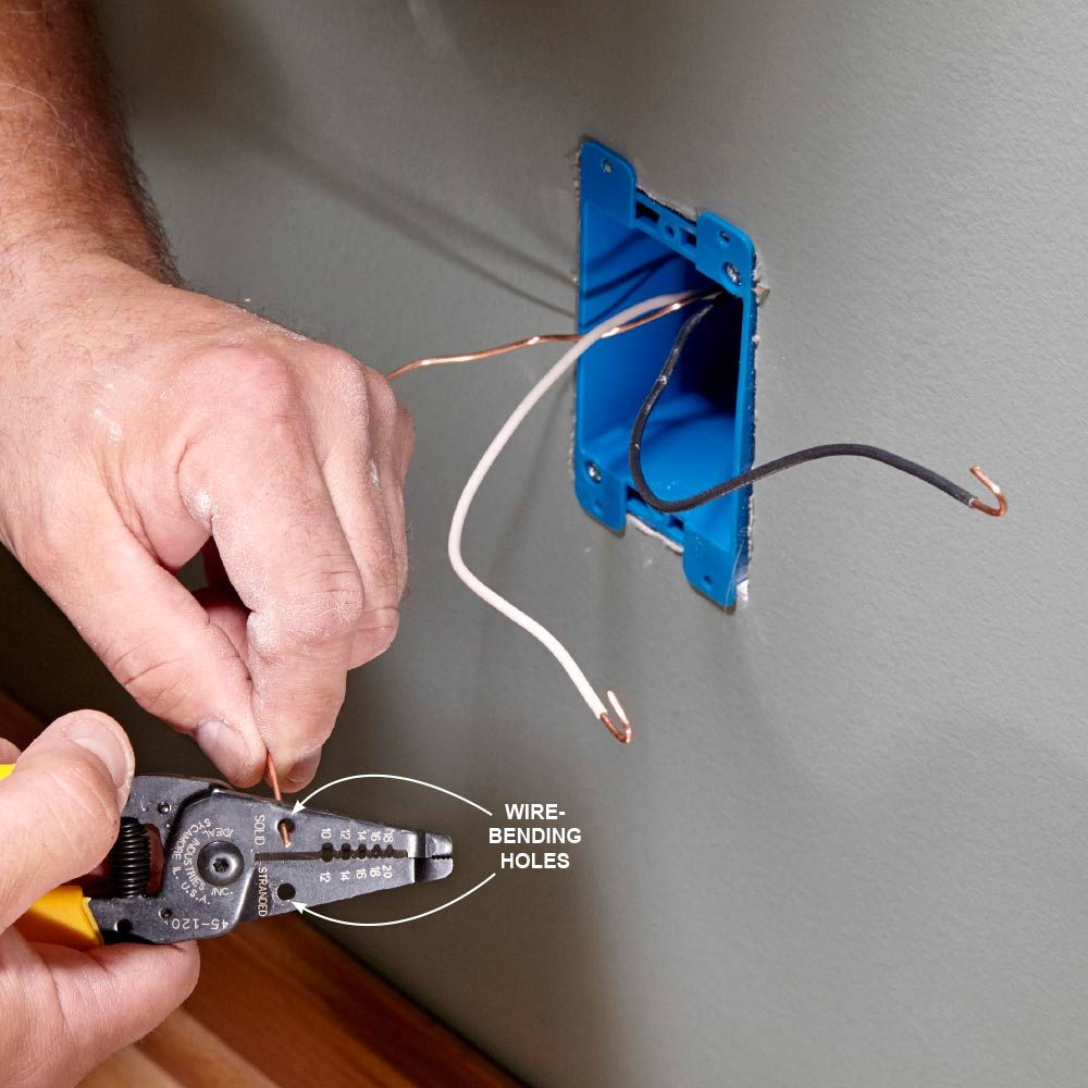 Install An Electrical Outlet Anywhere How To Make A Light Circuit Strip Cables Before Pulling Them