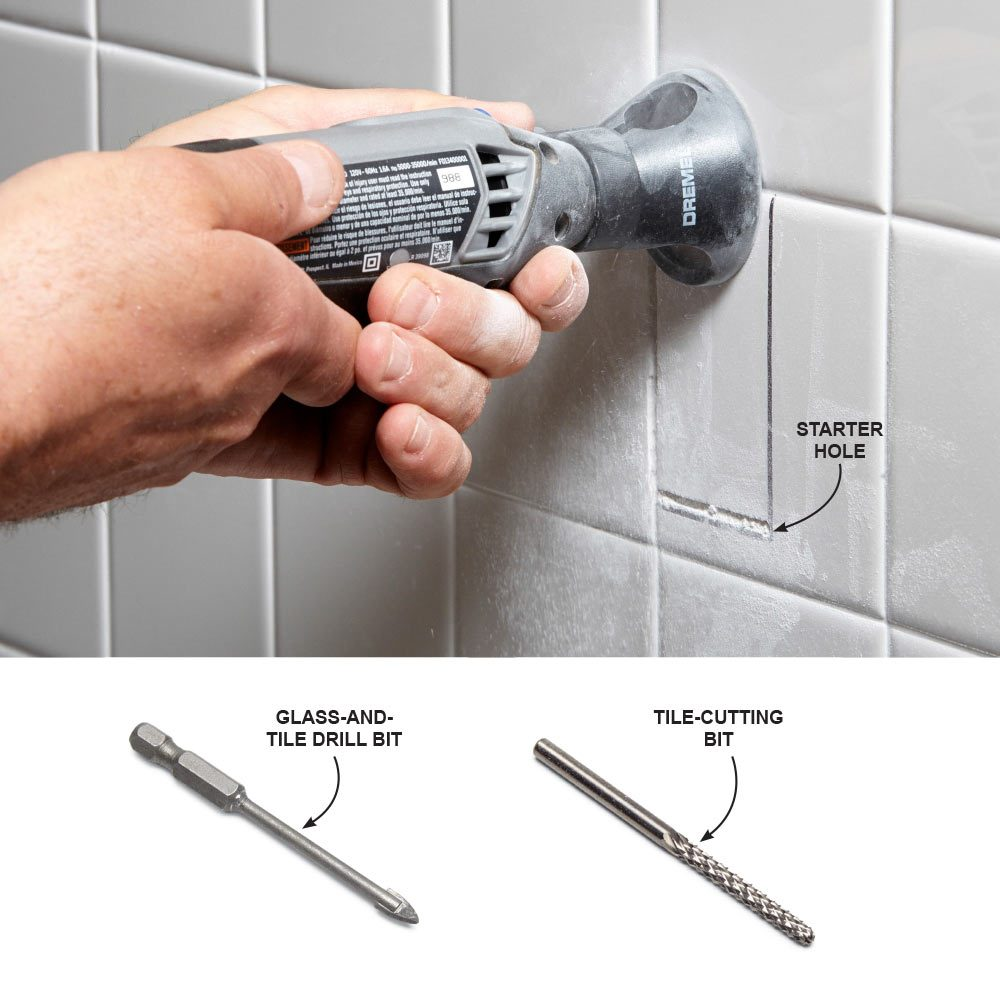 Cut Holes in Tile with a Rotary Tool