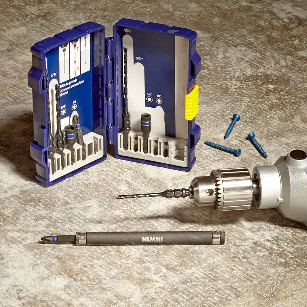 Concrete Screw Drill-Drive Set