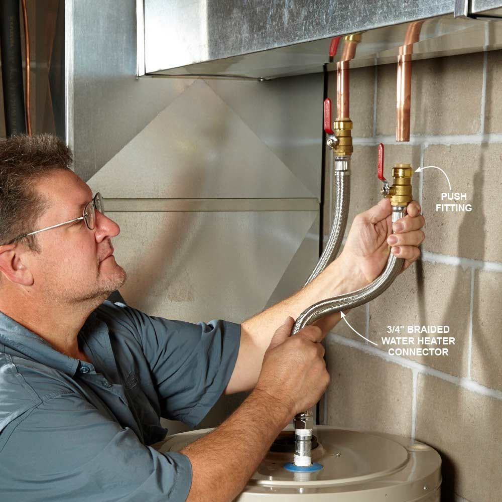 Super-Fast Water Heater Connection