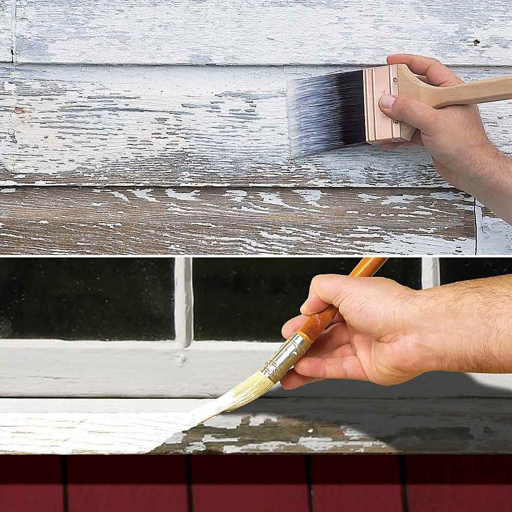 Painting over old paint to stop peeling | Construction Pro Tips
