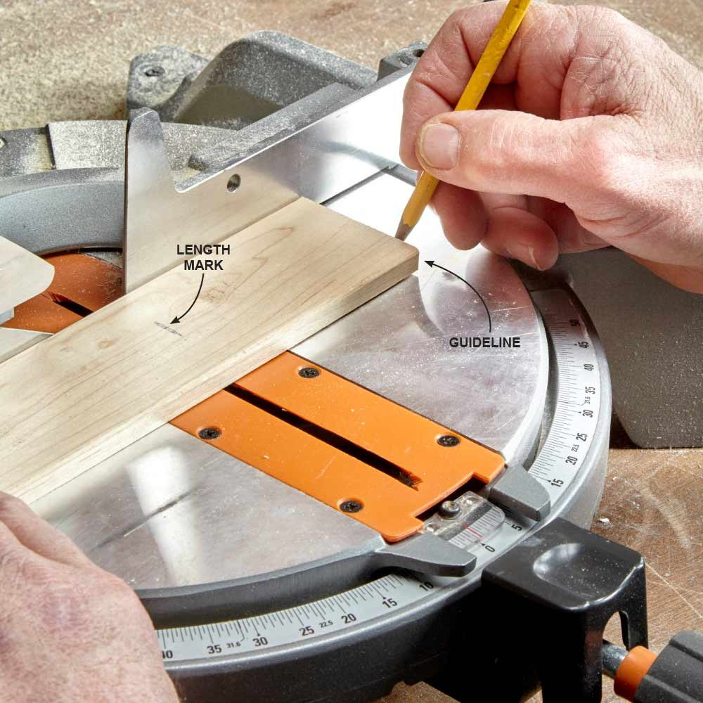 Mark a Guideline on a Miter Saw Base
