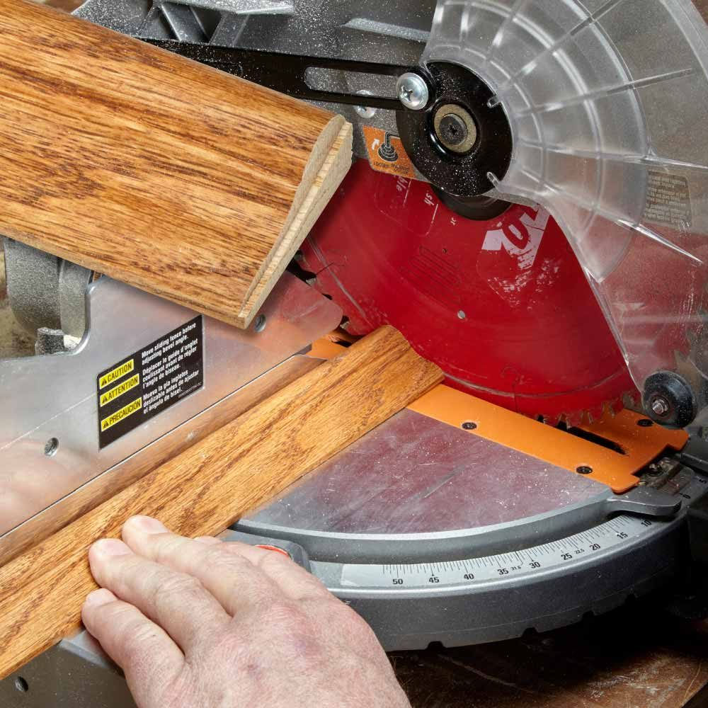 miter saw small adjustments shave fine cuts