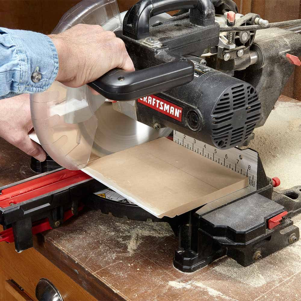 Cut Wide Boards on a Miter Saw with the Best Side Down