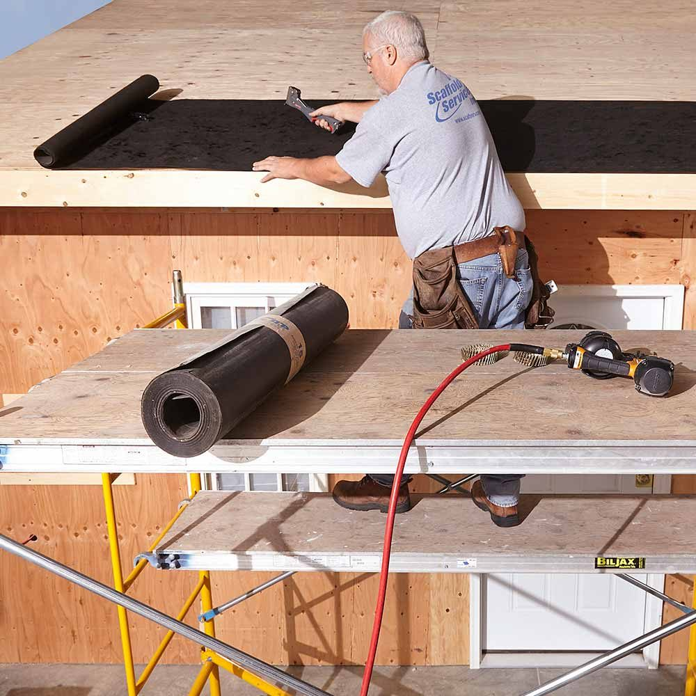Building a workbench on top of scaffolding | Construction Pro Tips