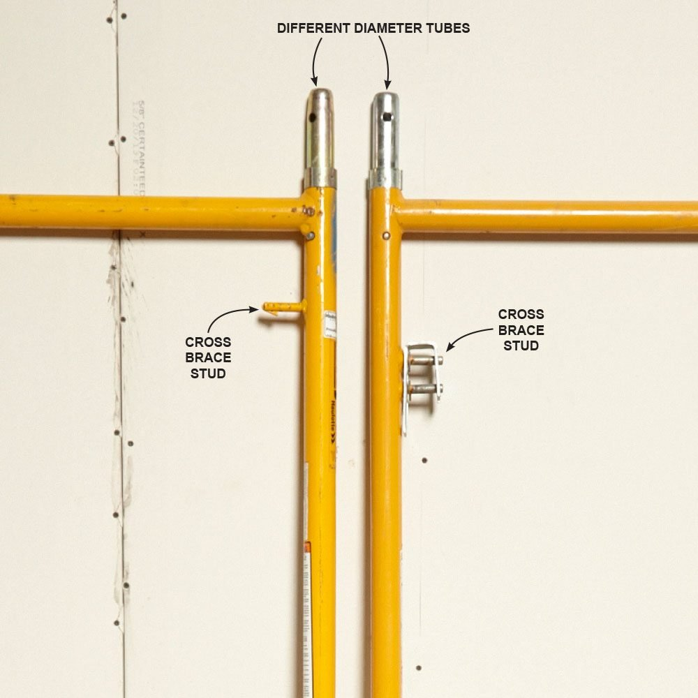 Scaffold tubes with varying diameters | Construction Pro Tips