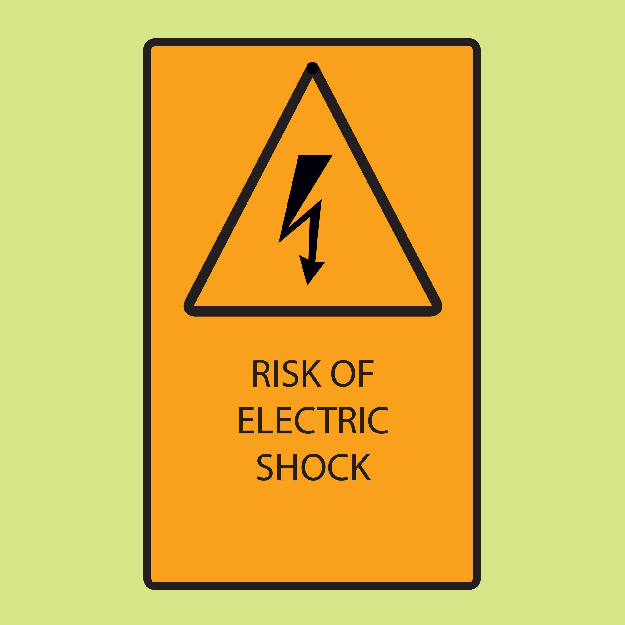 Diagram warning of electric shock | Construction Pro Tips