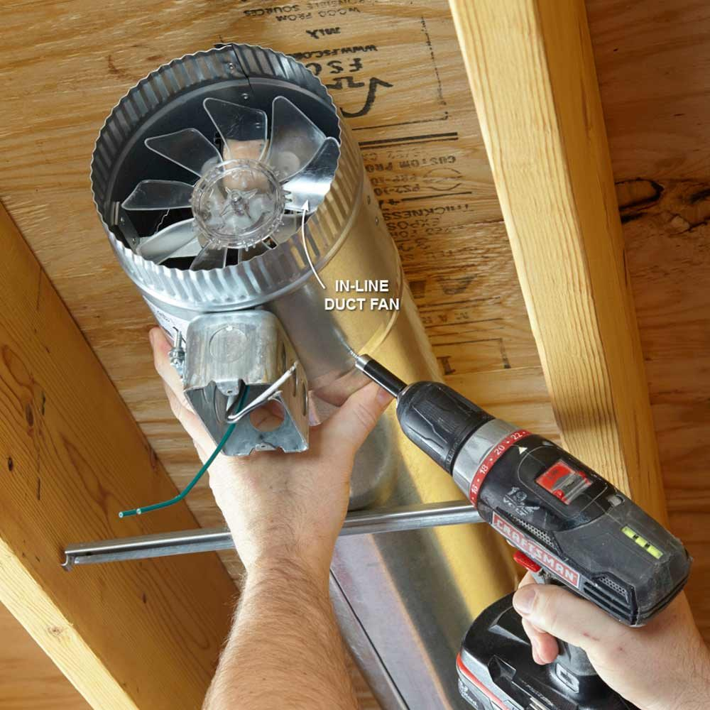 Installing an in-line duct fan | Construction Pro Tips