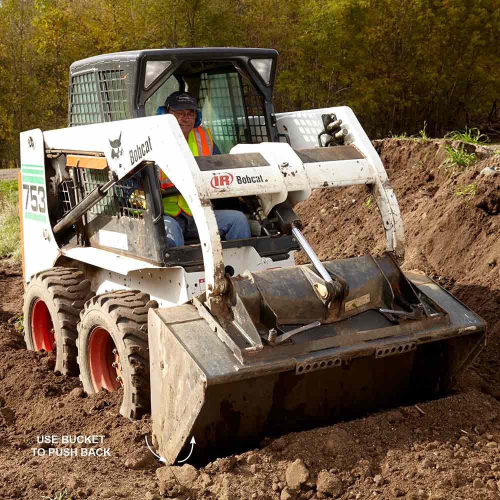Use a Skid Steer Bucket to Get Unstuck
