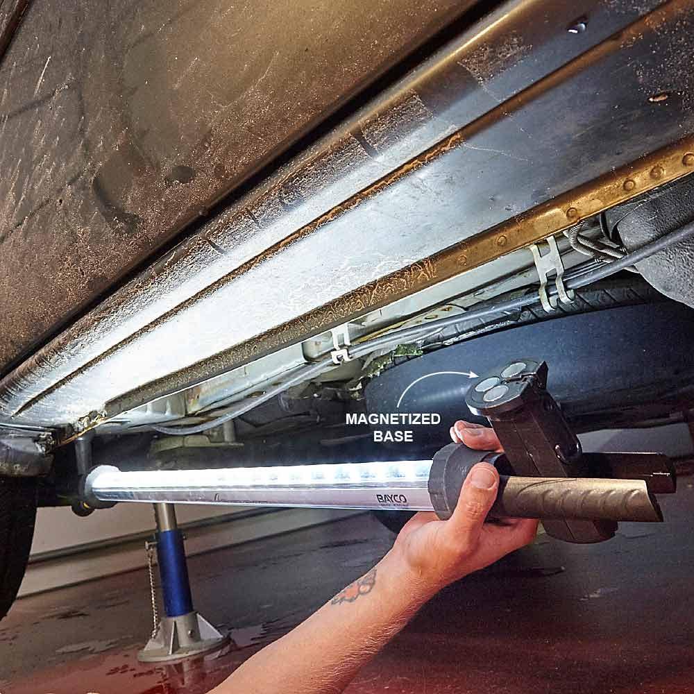 Using mechanic light underneath a car | Construction Pro Tips