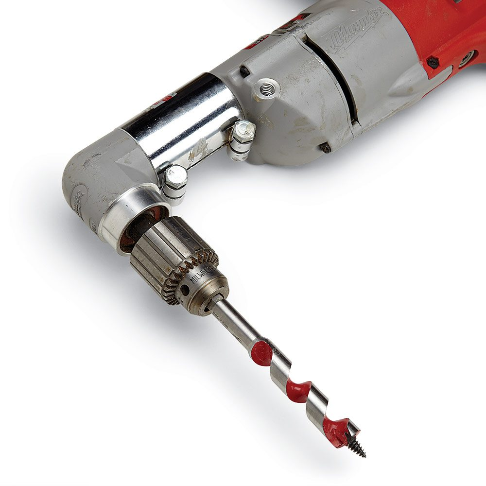 Electrical Rough In Tips Construction Pro Commercial Wiring Angle Drill With An Auger Bit