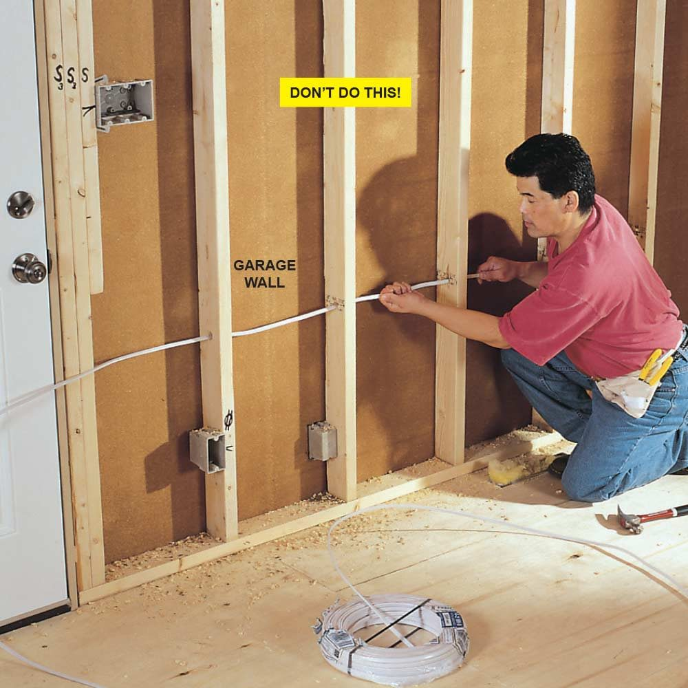 Unfinished Basement Wiring Code Guide And Troubleshooting Of Electrical Rough In Tips Construction Pro Walls Concrete Lights