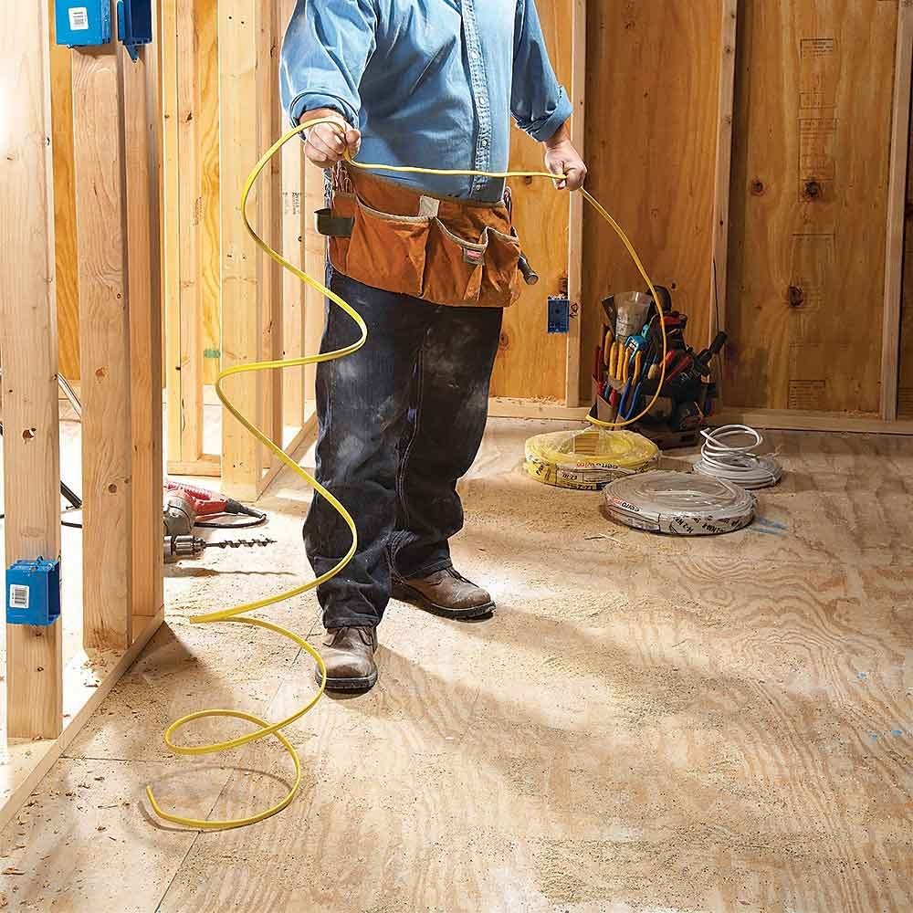 Electrical Rough In Tips Construction Pro Basic Basement Wiring Diagram Straighten Wire Before Placing