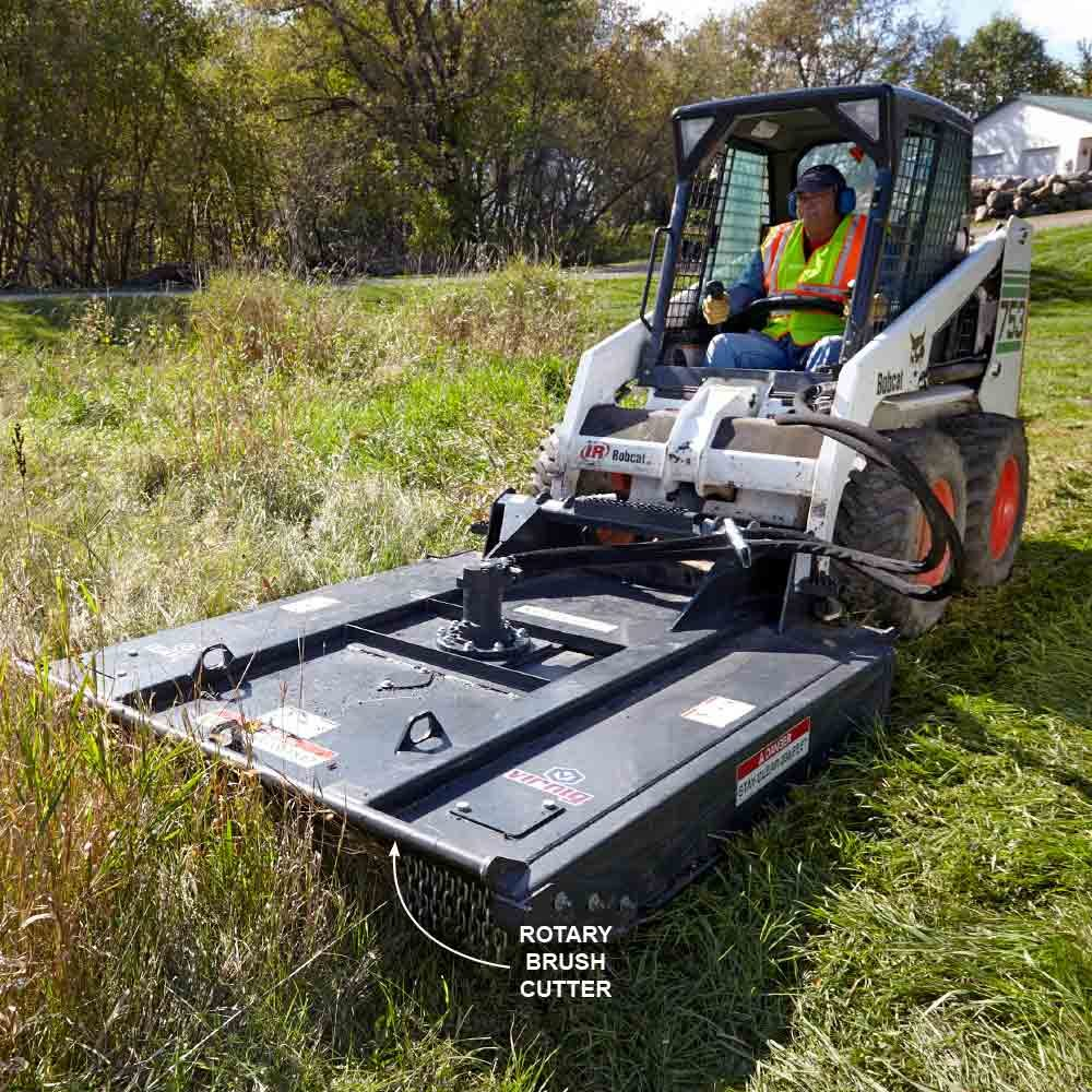 Skid steer brush cutter