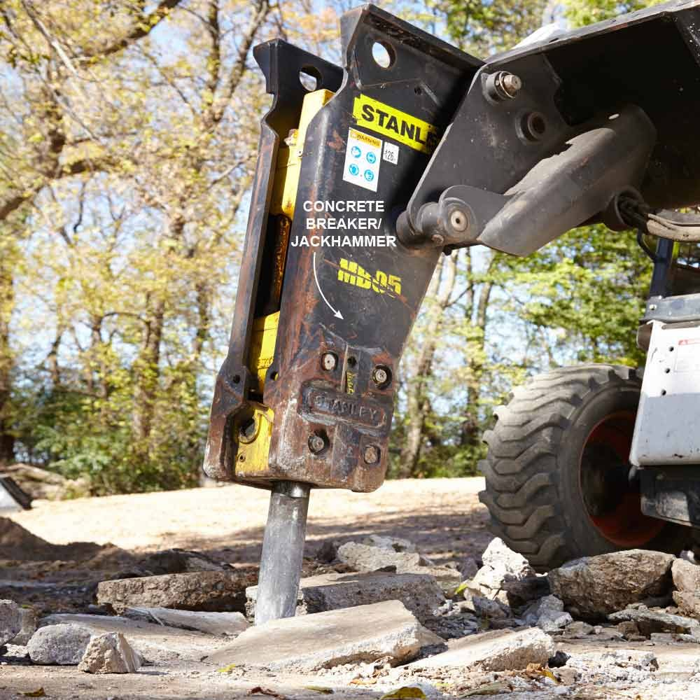Skid steer sledgehammer