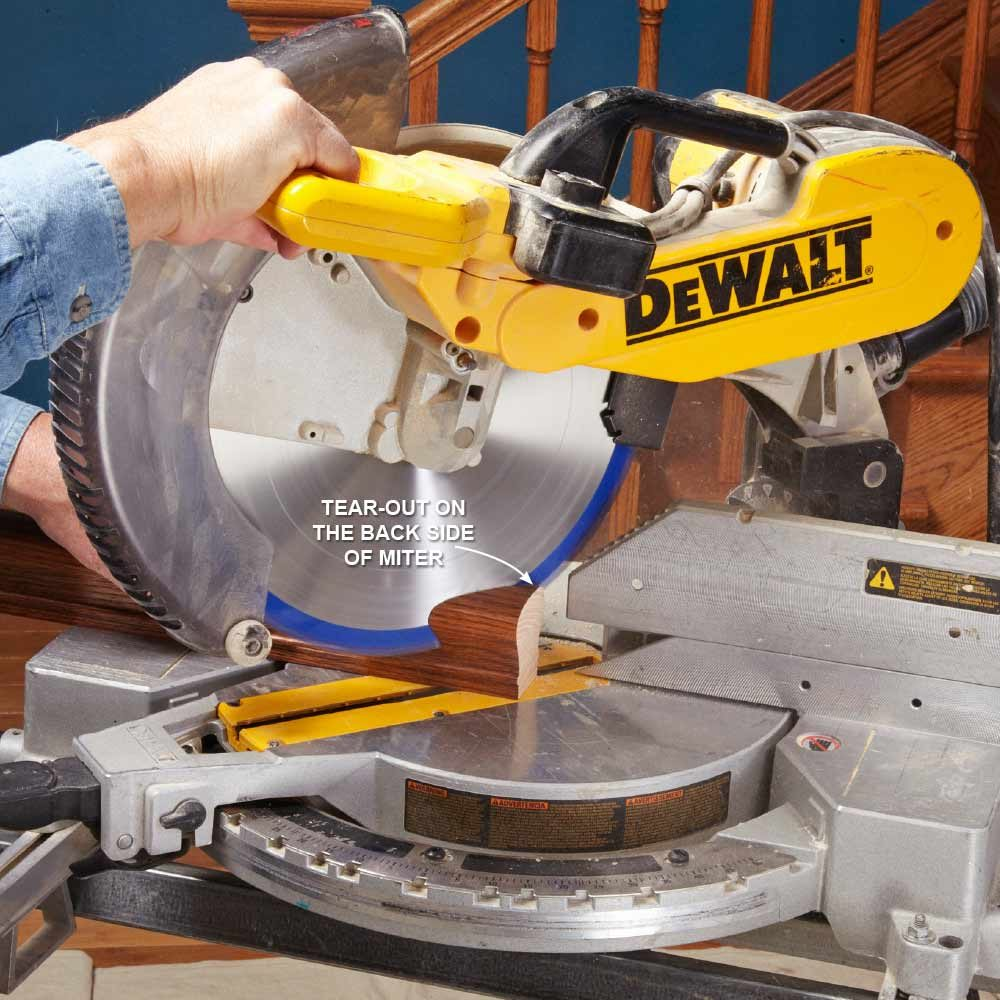 Cutting handrail with a miter saw | Construction Pro Tips