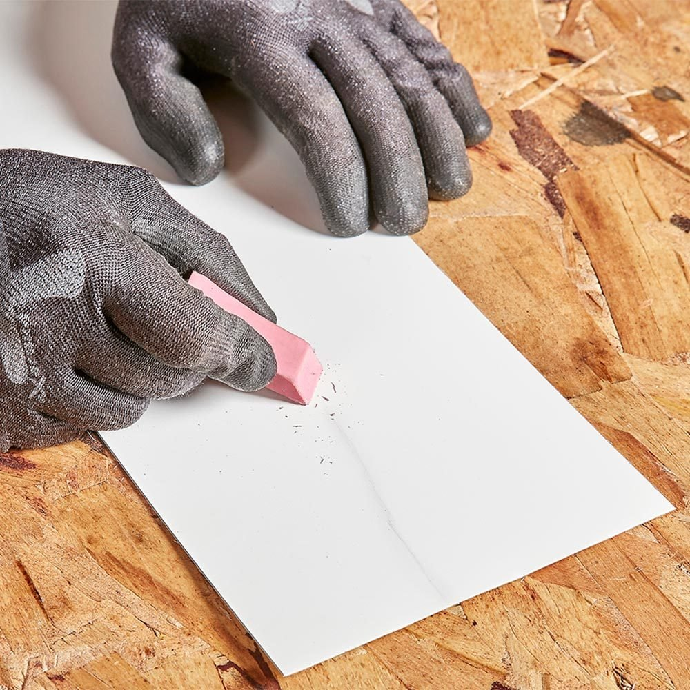 Erase marks on metal with an eraser | Construction Pro Tips