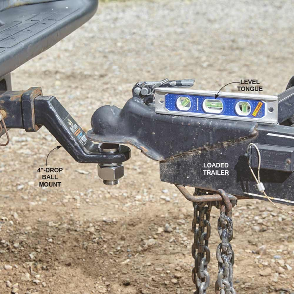 Leveling the trailer hitch and ball mount | Construction Pro Tips
