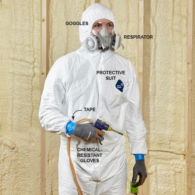 Man wearing protective suit | Construction Pro Tips