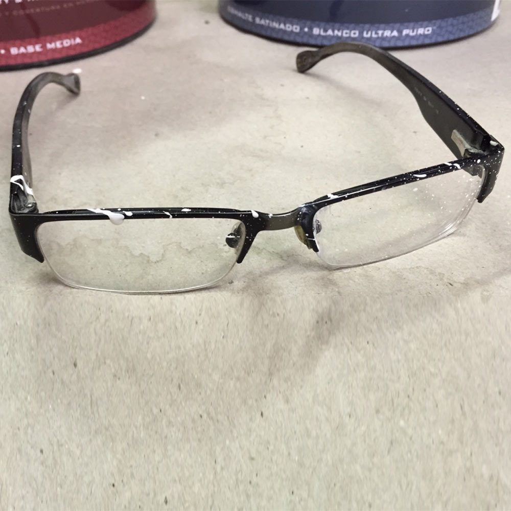 Old Eyeglasses Used as Eye Protection During Messy Jobs | Construction Pro Tips