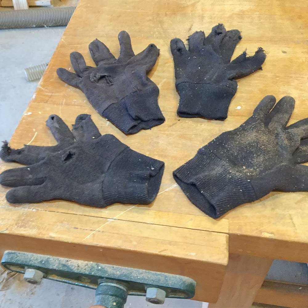 Old brown gloves | Construction Pro Tips