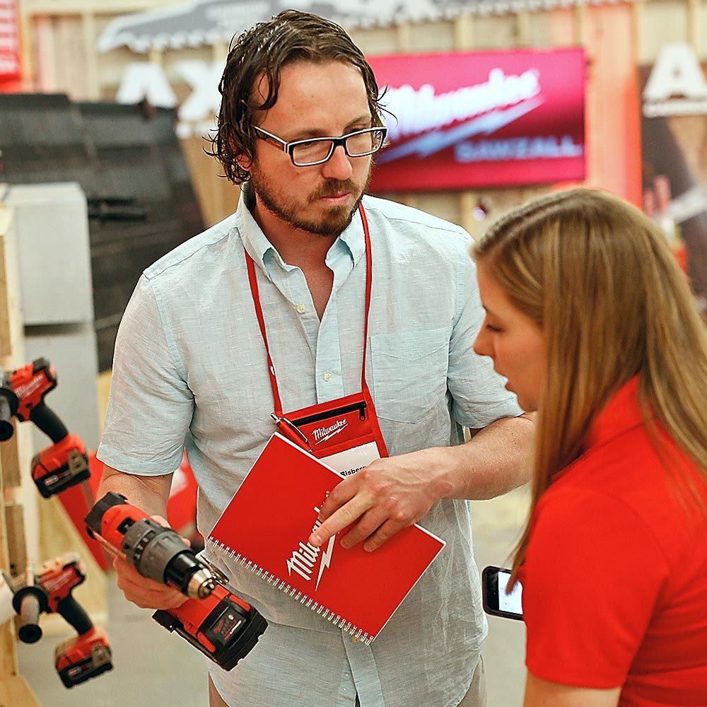 Josh Risberg at a Milwaukee Tool Event | Construction Pro Tips