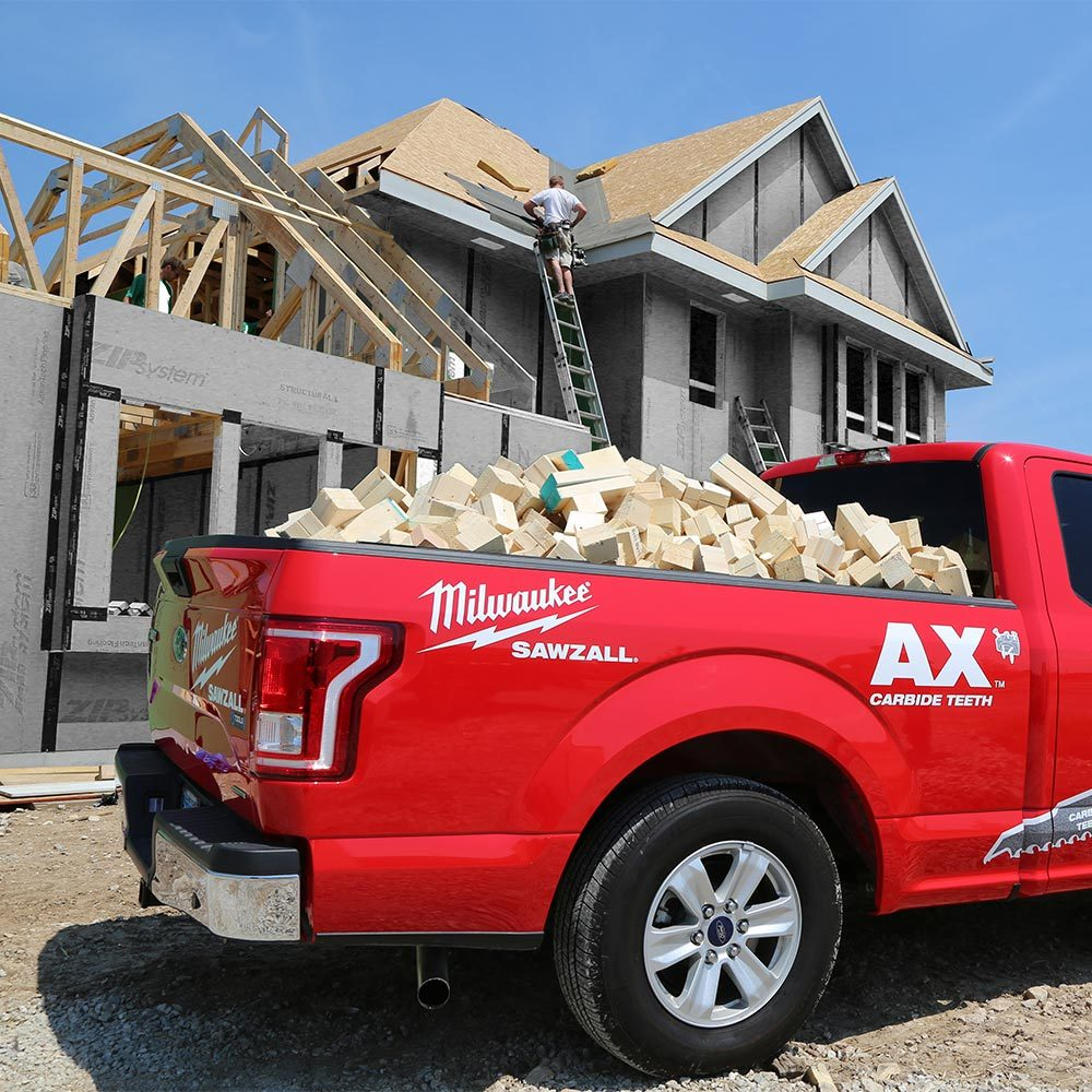 A huge pile of cutoffs in the back of a truck | Construction Pro Tips
