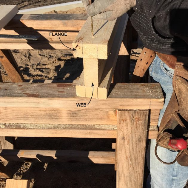 Building the I-beam for saw horses | Construction Pro Tips